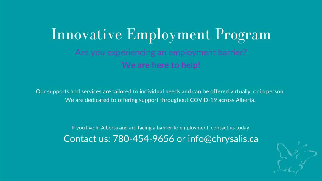 Innovative Employment Program in Alberta banner